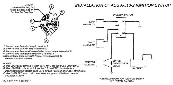 A 510 2 INSTALL DIA no M aircraft magneto wiring diagram bendix p lead kit \u2022 wiring Wico C Magneto Diagram at gsmx.co